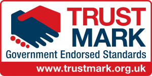 The badge of the Trustmark for Doncaster Carpet cleaner Clean and Dry