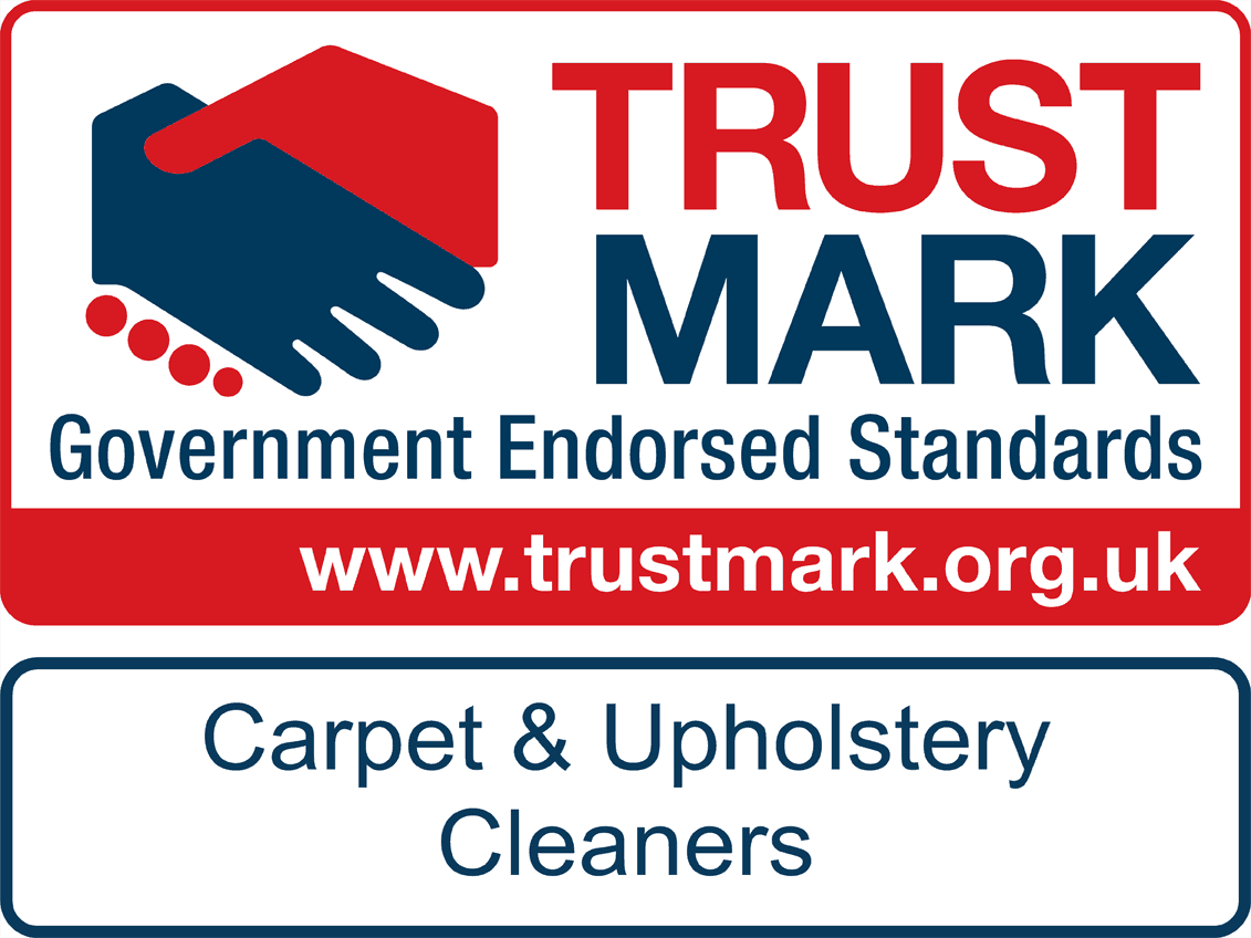The logo for Trustmark Carpet & Upgolstery Cleaners Doncaster Clean and Dry